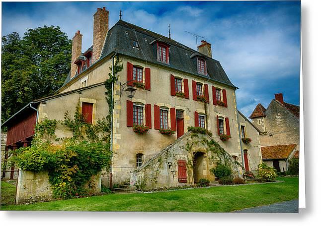 House Of Central France Greeting Card by Oleg Koryagin