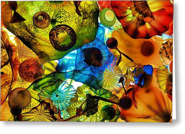 Art Blown Glass Photographs Photographs Greeting Cards - House Of Glass Greeting Card by Dan Sproul