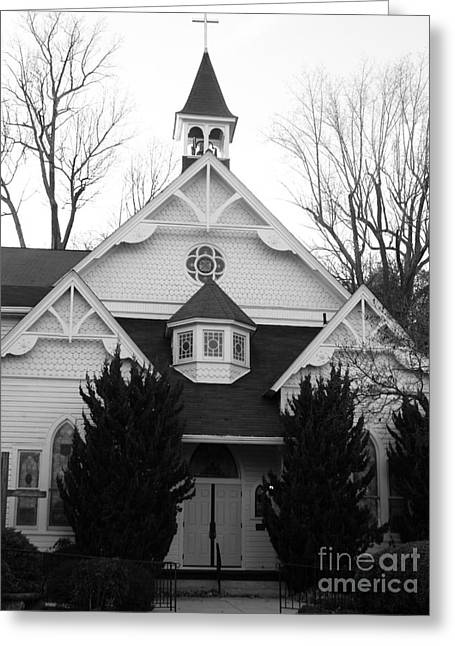 White Frame House Digital Greeting Cards - House of Prayer Greeting Card by Emmy Marie Vickers