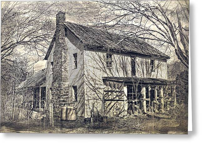 Abandoned House Greeting Cards - House of Shadows Greeting Card by Kathy Jennings