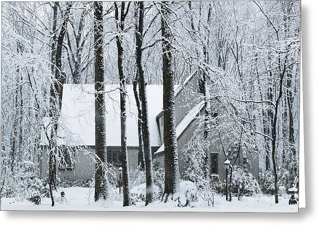 Muted Greeting Cards - House of Snow Greeting Card by John Greim
