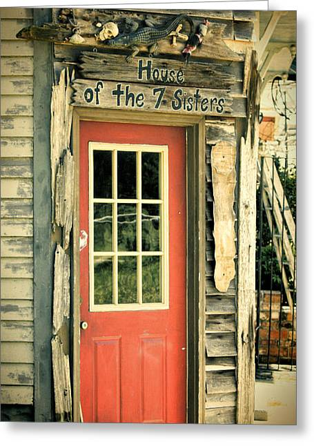Voodoo Greeting Cards - House of the Seven Sisters Greeting Card by Joan Carroll