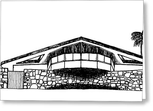 Winter Photos Drawings Greeting Cards - House of Tomorrow Greeting Card by Robert Cullison