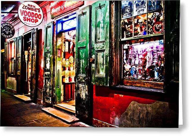 Voodoo Shop Greeting Cards - House of VooDoo Greeting Card by Gary Ezell