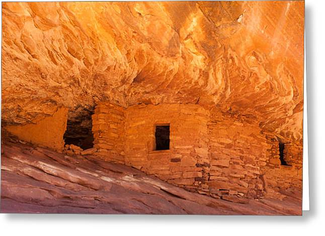 Indian Ruins Greeting Cards - House On Fire Ruins Panoramic Greeting Card by Rory Wallwork