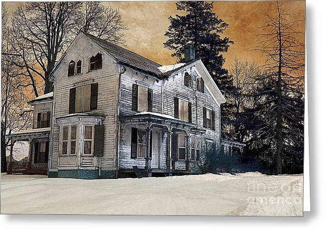 House On Haunted Hill? Greeting Card by A New Focus Photography
