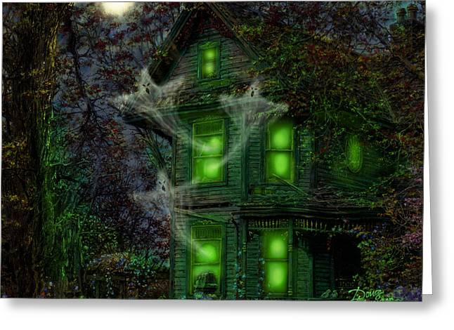 Haunted House Digital Art Greeting Cards - House on Haunted Hill Greeting Card by Doug Kreuger