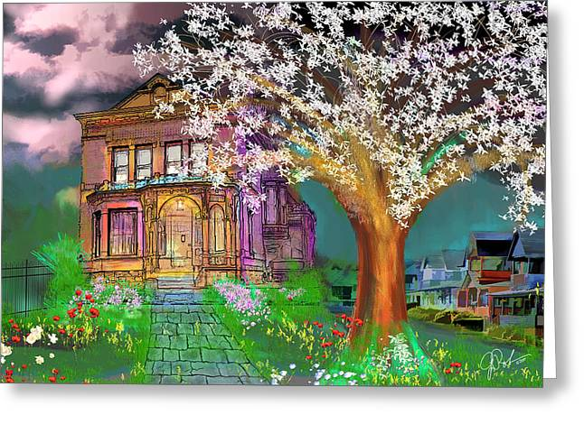 House On Milbert Street Greeting Card by Gerry Robins