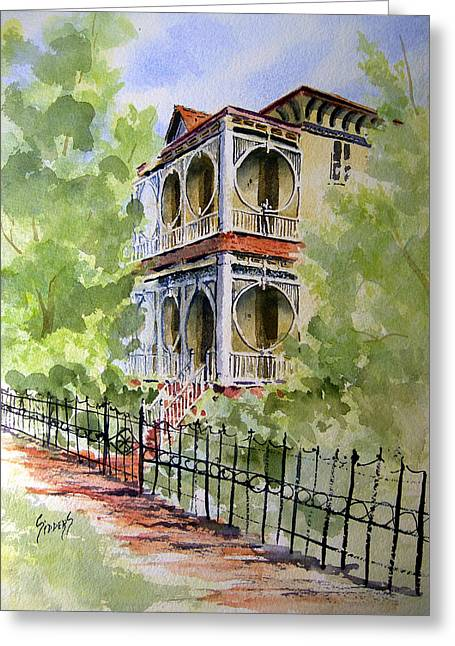 House On Spring Street Greeting Card by Sam Sidders