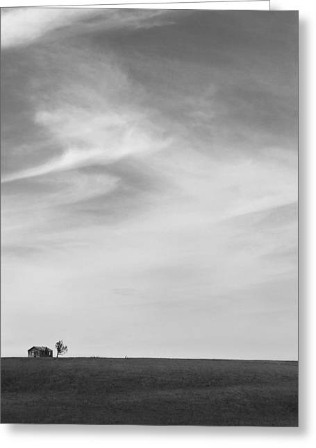 Interesting Digital Greeting Cards - House on the Hill 2 Greeting Card by Mike McGlothlen