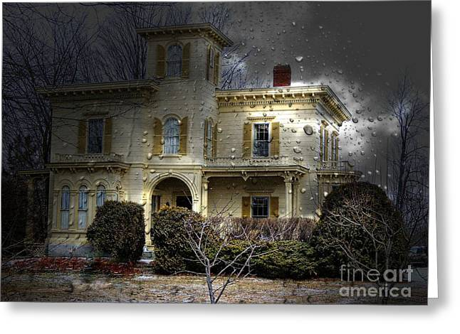 Entrance Door Greeting Cards - House On The Hill Greeting Card by Marcia Lee Jones