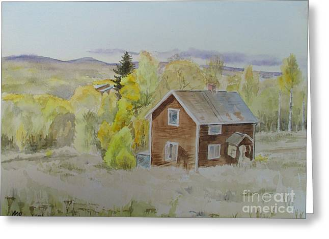 The Hills Greeting Cards - House On The Hill Greeting Card by Martin Howard