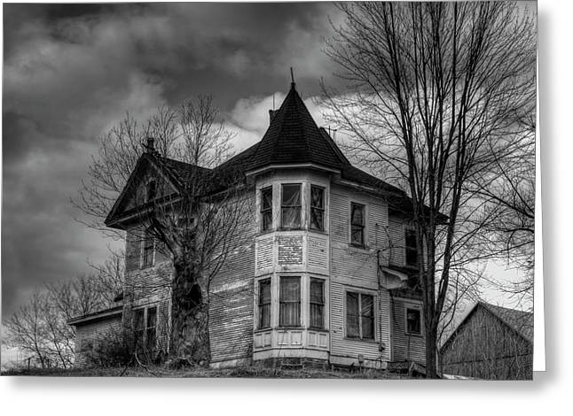Thomas Young Greeting Cards - House On The Hill Greeting Card by Thomas Young