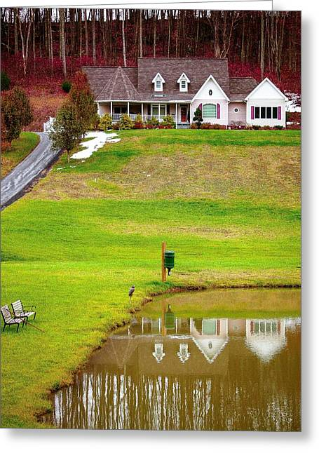 Carter House Greeting Cards - House On The Hill West Virginia Greeting Card by Princess Kidwell