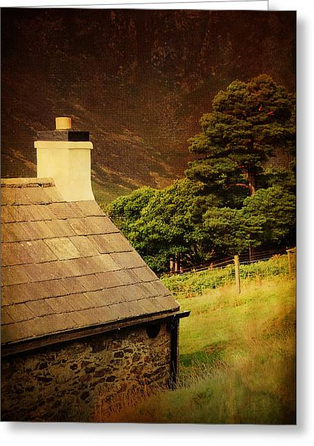 White Pine County Greeting Cards - House on the Hills. Wicklow. Ireland Greeting Card by Jenny Rainbow