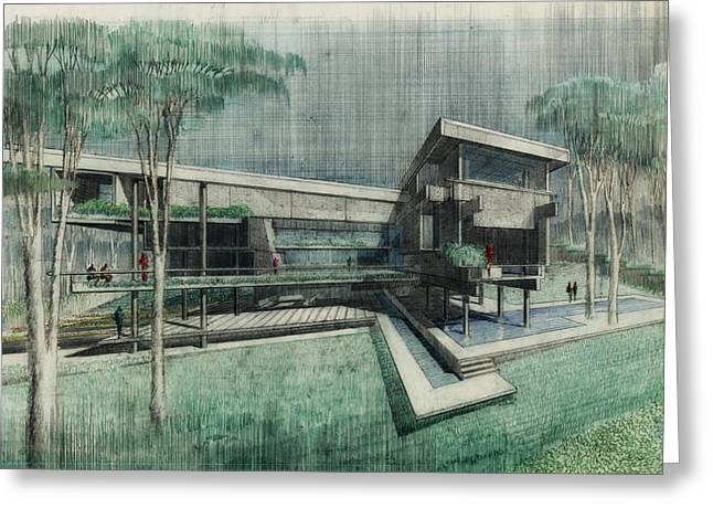 House Perspective 1981 Greeting Card by Mountain Dreams