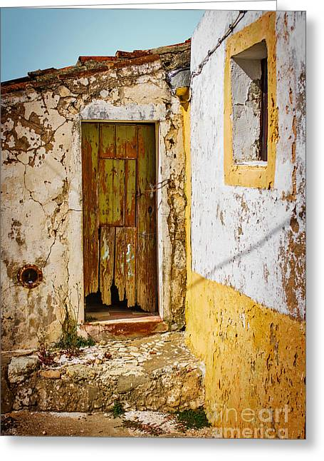 Old Structure Greeting Cards - House Ruin Greeting Card by Carlos Caetano