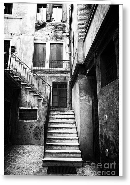 House Up The Stairs Greeting Card by John Rizzuto