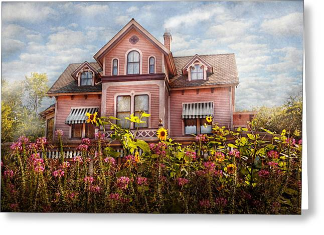 Nostalgic Photography Greeting Cards - House - Victorian - Summer Cottage  Greeting Card by Mike Savad