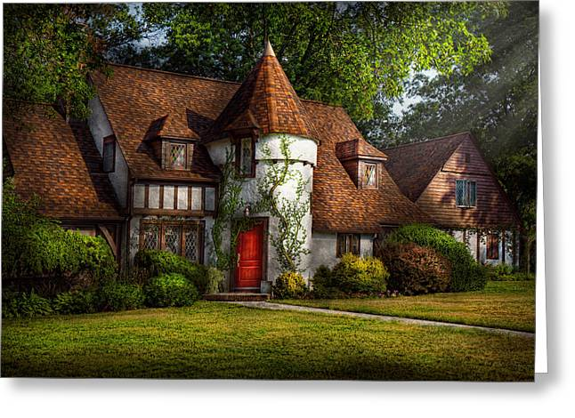 Storybook Greeting Cards - House - Westfield NJ - Fit for a king Greeting Card by Mike Savad