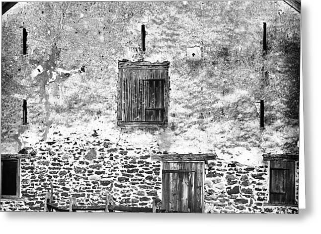 House with the Fence Greeting Card by John Rizzuto