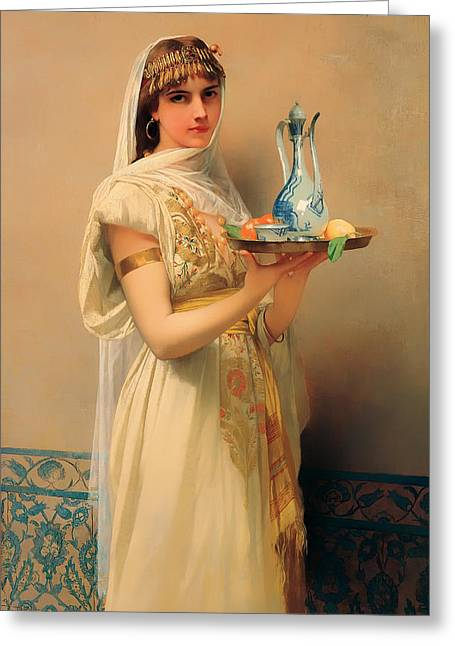 Housemaid Greeting Cards - Housemaid  Greeting Card by Jules Lefebvre