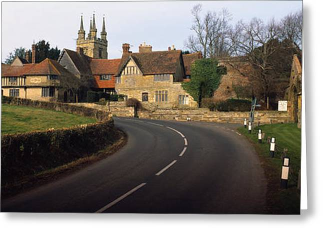 Kent Photography Greeting Cards - Houses Along A Road, Penhurst, Kent Greeting Card by Panoramic Images