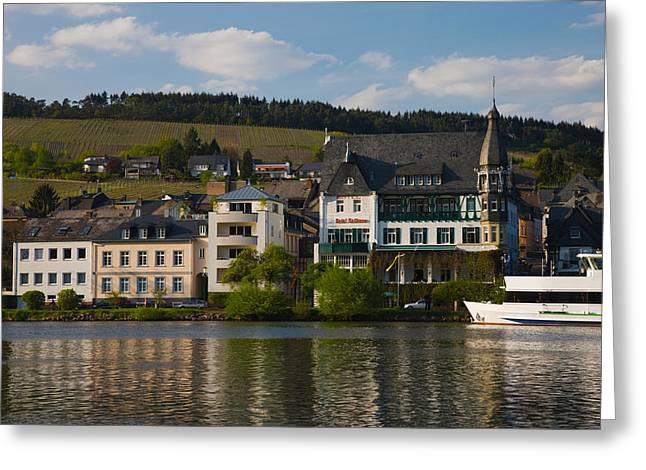 River Valley Greeting Cards - Houses At The Waterfront Greeting Card by Panoramic Images