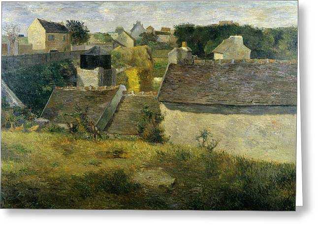 Houses At Vaugirard, 1880 Greeting Card by Paul Gauguin
