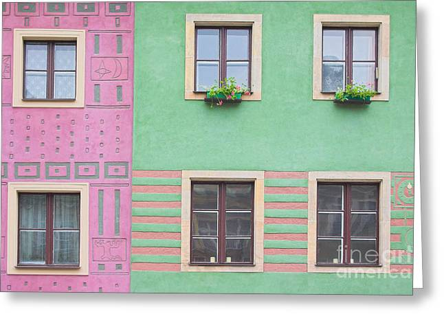 Adobe Greeting Cards - Houses from the outside Greeting Card by Michal Bednarek