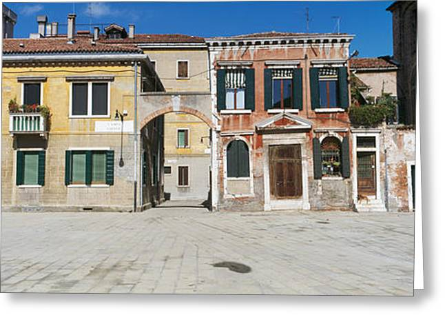 Campo Greeting Cards - Houses In A Town, Campo Dei Mori Greeting Card by Panoramic Images