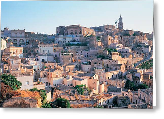 Country Town Greeting Cards - Houses In A Town, Matera, Basilicata Greeting Card by Panoramic Images
