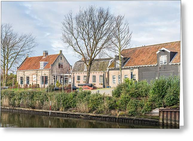 Moerdijk Greeting Cards - Houses in an historic Dutch village Greeting Card by Ruud Morijn