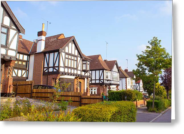 Suburbia Greeting Cards - Houses in Woodford England Greeting Card by Tom Gowanlock