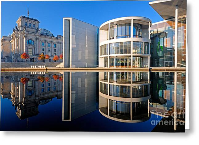 Haus Greeting Cards - Houses Of Parliament, Berlin, Germany Greeting Card by Ingo Schulz