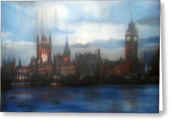 Sherlock Holmes House Greeting Cards - Houses of Parliament Greeting Card by Glen Heppner