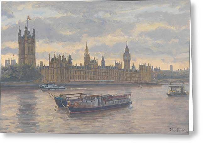 Signature Greeting Cards - Houses of Parliament Greeting Card by Julian Barrow