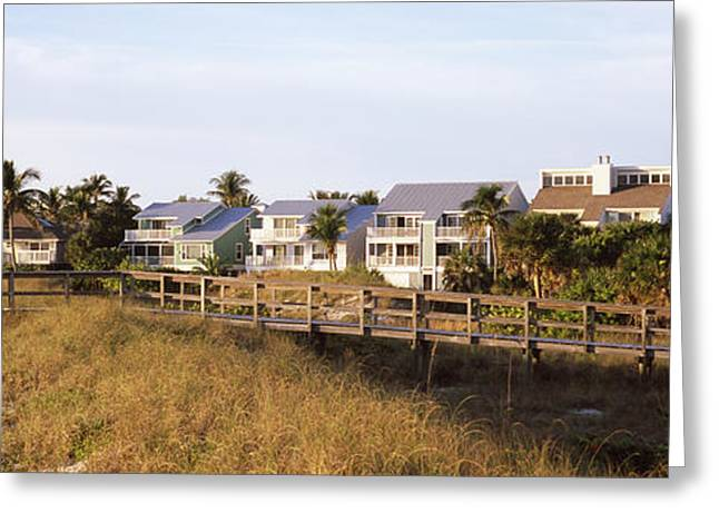Florida Bridge Greeting Cards - Houses On The Beach, Gasparilla Island Greeting Card by Panoramic Images