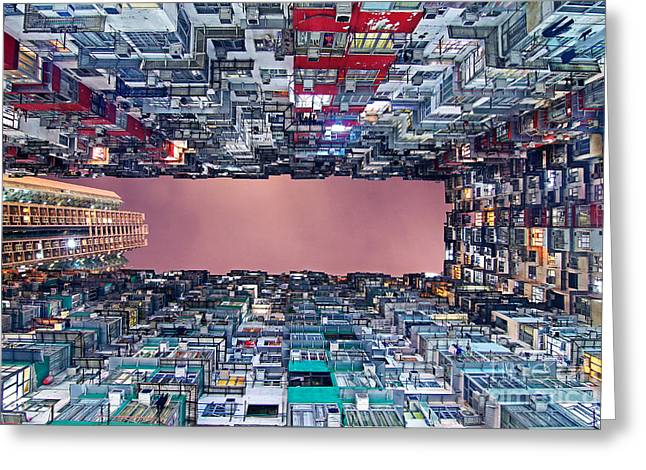 Hongkong Greeting Cards - Housing Greeting Card by Lars Ruecker