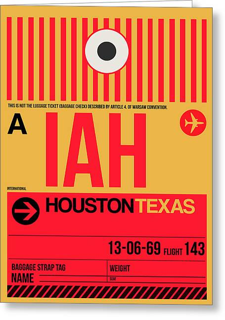 Houston Airport Poster 1 Greeting Card by Naxart Studio