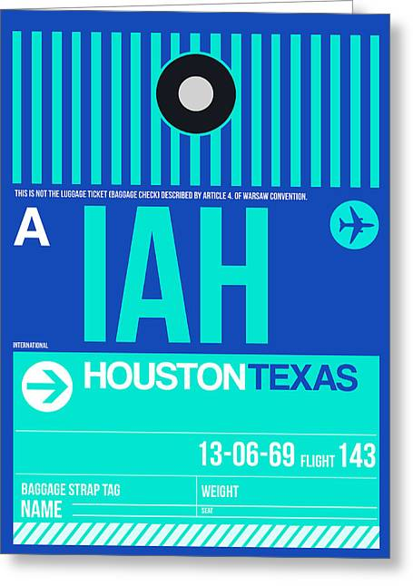 Tourists Greeting Cards - Houston Airport Poster 2 Greeting Card by Naxart Studio