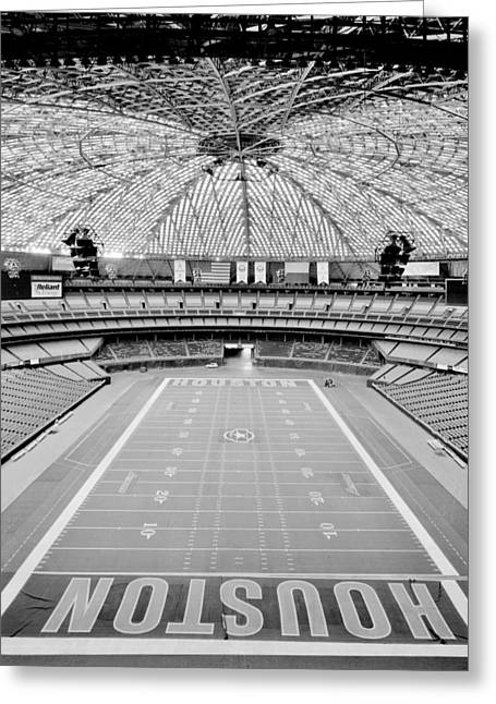 Houston Astros Greeting Cards - Houston Astrodome Greeting Card by Benjamin Yeager