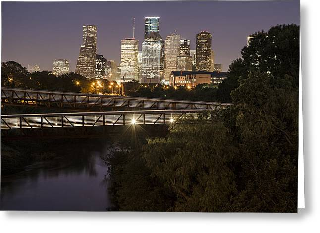 Crosswalk Greeting Cards - Houston Crosswalk Greeting Card by John McGraw