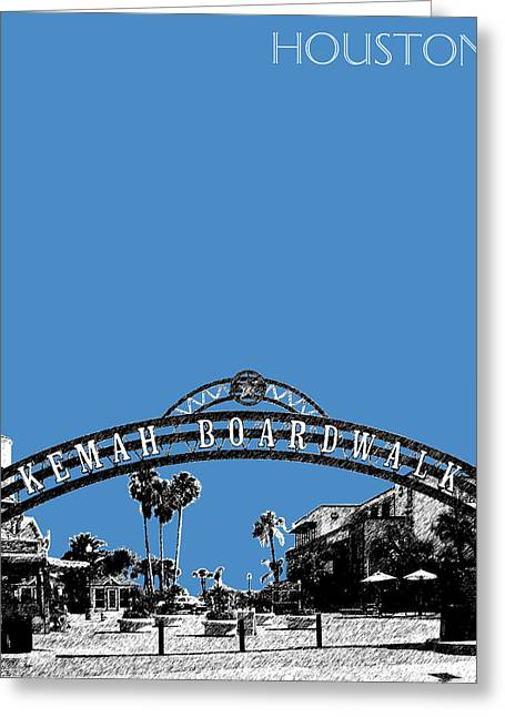 Texas Architecture Greeting Cards - Houston Kemah Boardwalk - Slate Greeting Card by DB Artist