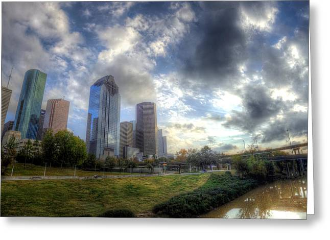 Goff Greeting Cards - Houston Greeting Card by Micah Goff