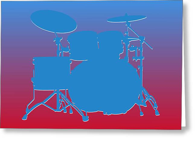 Drum Greeting Cards - Houston Oilers Drum Set Greeting Card by Joe Hamilton