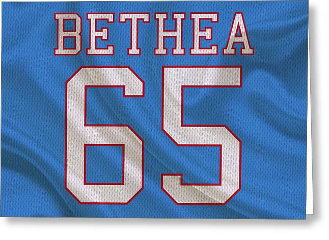 Elvin Greeting Cards - Houston Oilers Elvin Bethea Greeting Card by Joe Hamilton