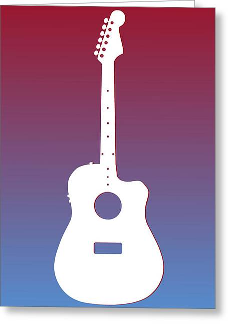 Concert Bands Photographs Greeting Cards - Houston Oilers Guitar Greeting Card by Joe Hamilton