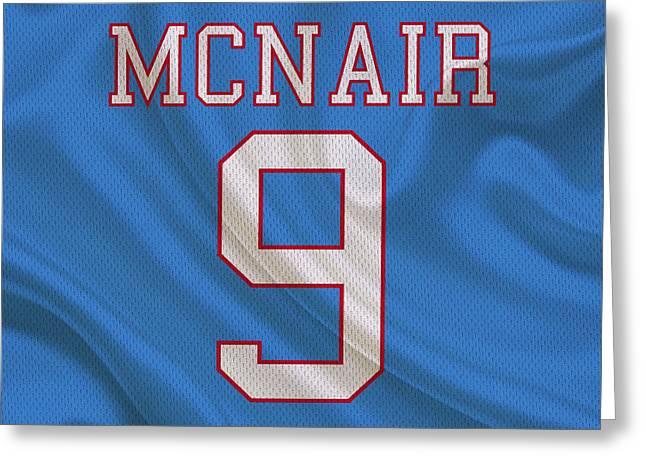 Houston Greeting Cards - Houston Oilers Steve Mcnair Greeting Card by Joe Hamilton