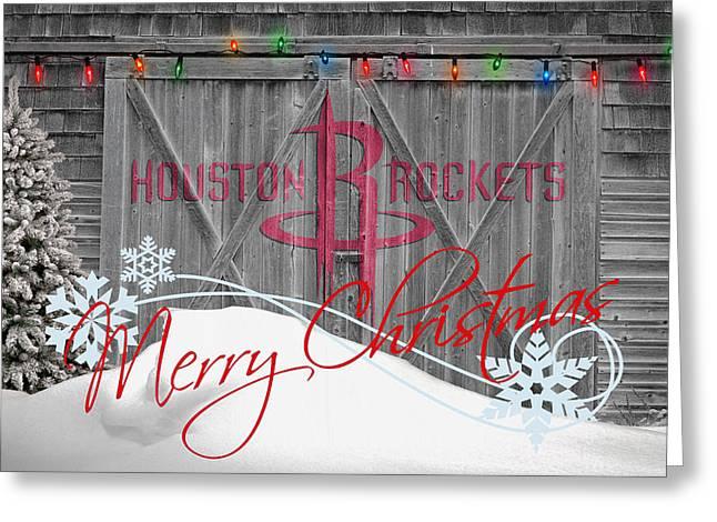 HOUSTON ROCKETS Greeting Card by Joe Hamilton